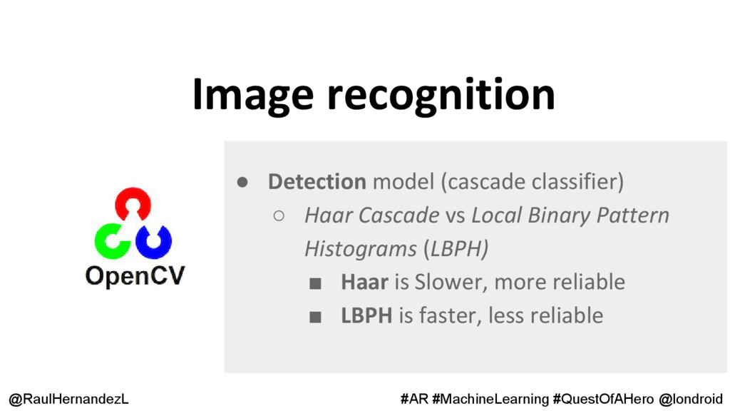 Image recognition @RaulHernandezL #AR #MachineL...