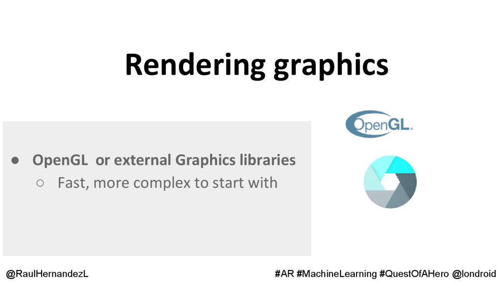 Rendering graphics @RaulHernandezL #AR #Machine...