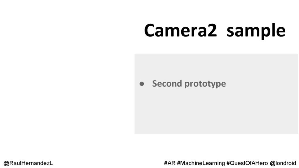 Camera2 sample @RaulHernandezL #AR #MachineLear...