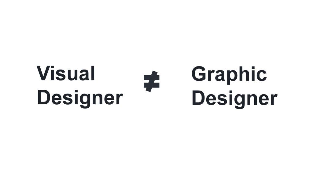 Visual Designer Graphic Designer