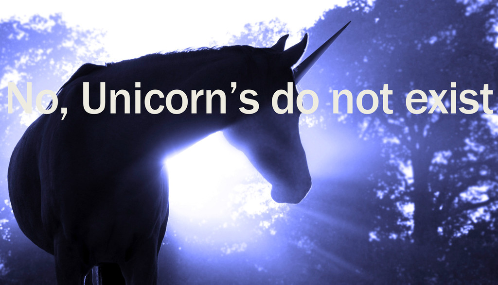 No, Unicorn's do not exist