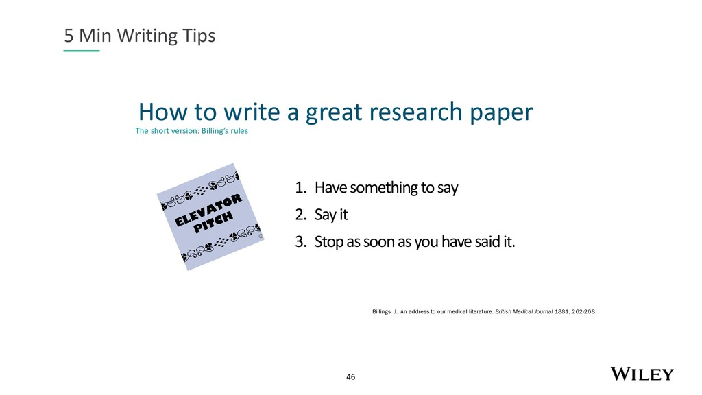 46 How to write a great research paper 5 Min Wr...