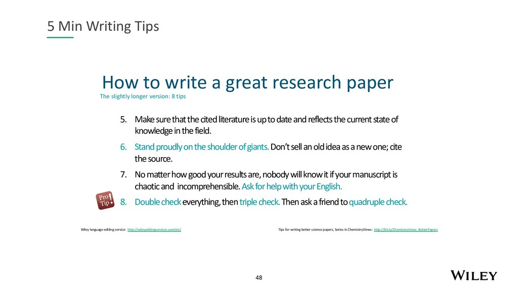 48 How to write a great research paper 5 Min Wr...