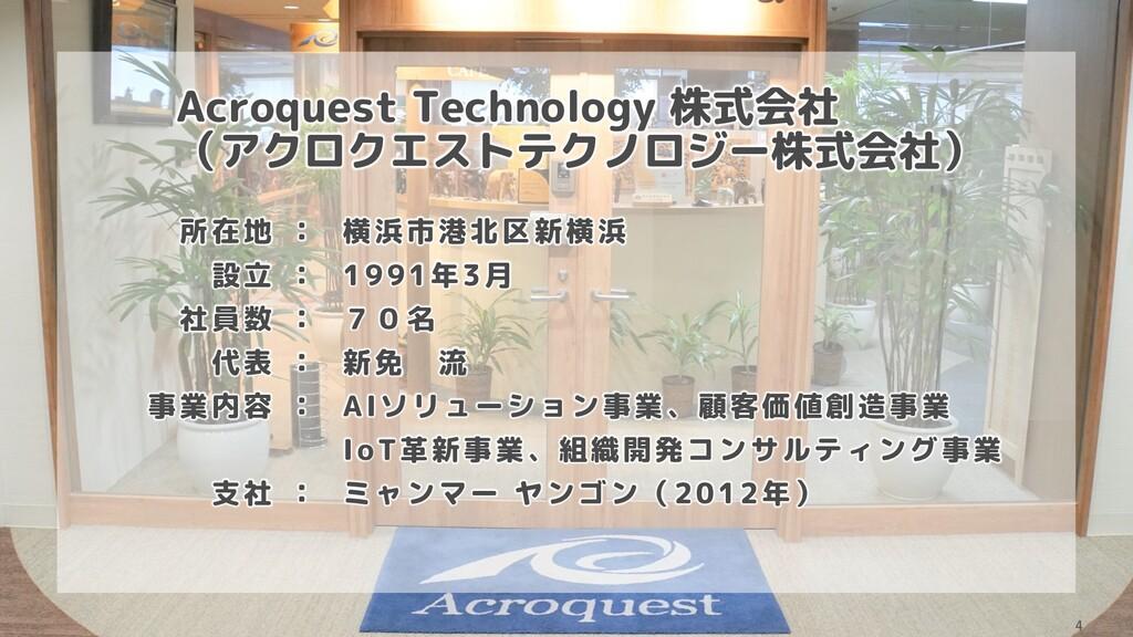 Acroquest Technology 株式会社 (アクロクエストテクノロジー株式会社) 所...