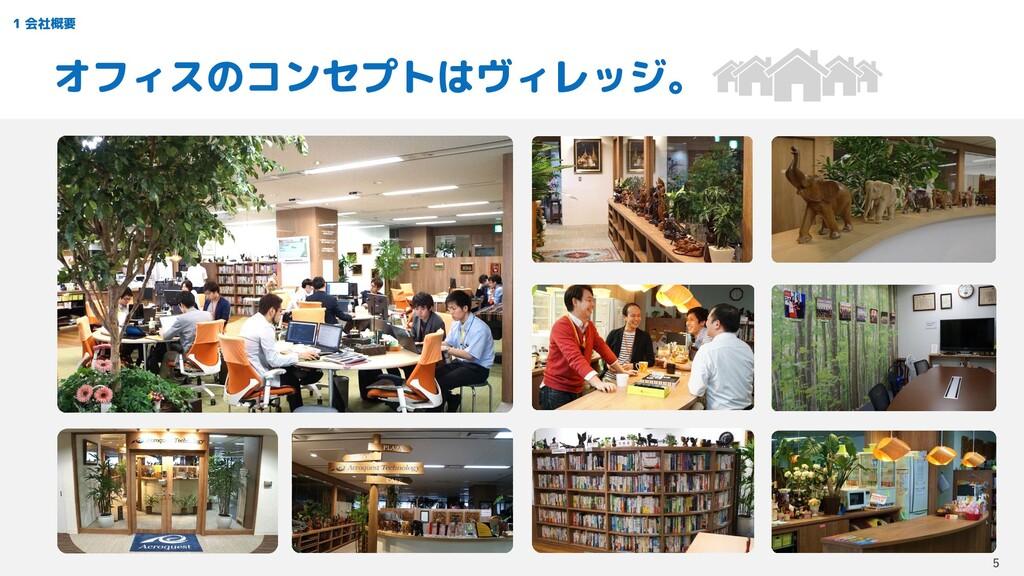 1 会社概要 オフィスのコンセプトはヴィレッジ。 5