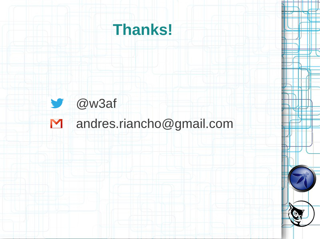 Thanks! @w3af andres.riancho@gmail.com