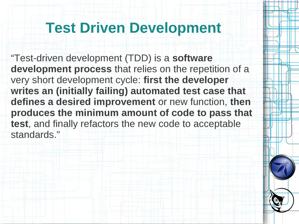 "Test Driven Development ""Test-driven developmen..."