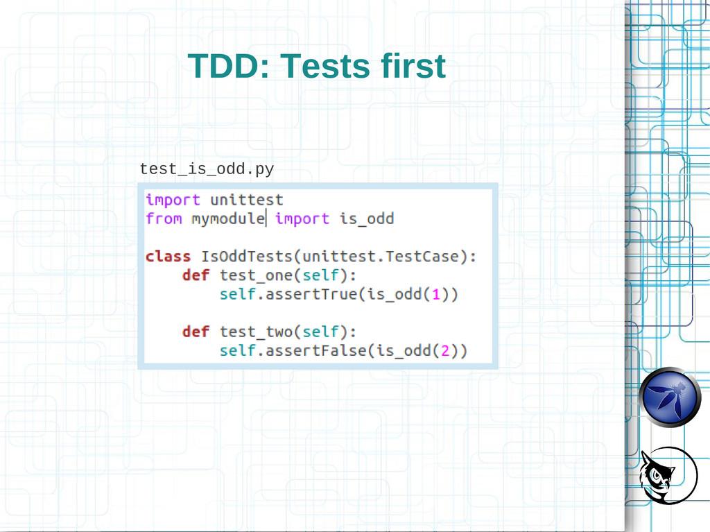 TDD: Tests first test_is_odd.py