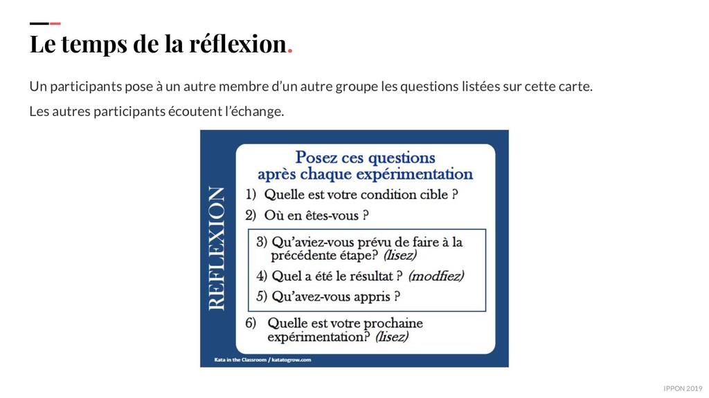 IPPON 2019 Le temps de la réflexion. Un particip...