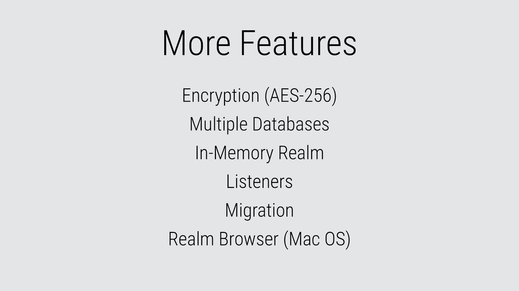 More Features Encryption (AES-256) Multiple Dat...