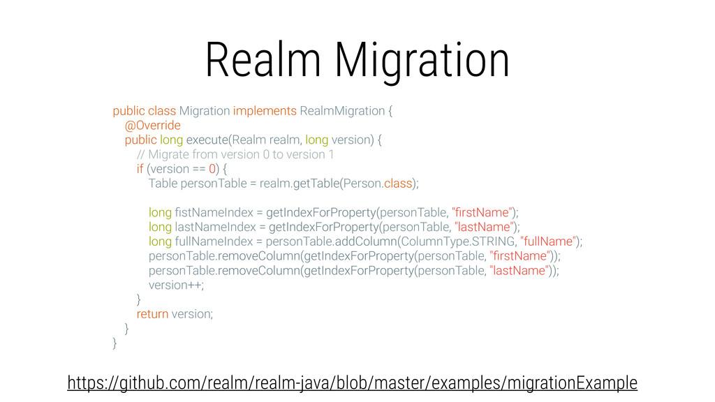 Realm Migration public class Migration implemen...