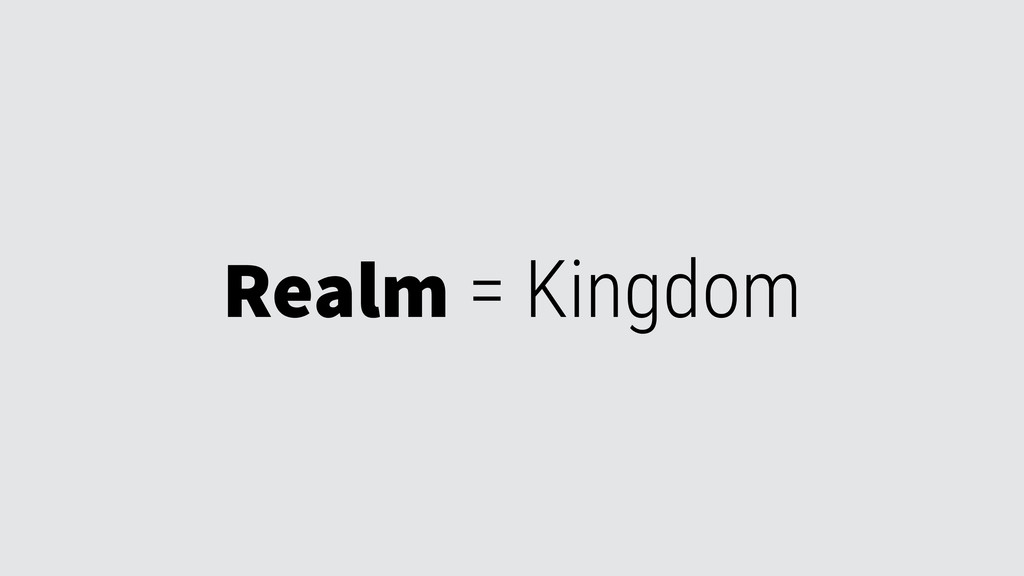 Realm = Kingdom