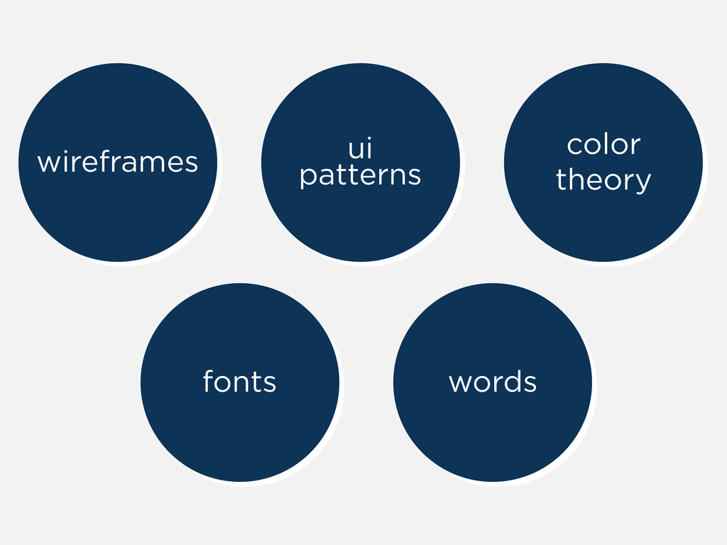 wireframes ui patterns fonts words color theory
