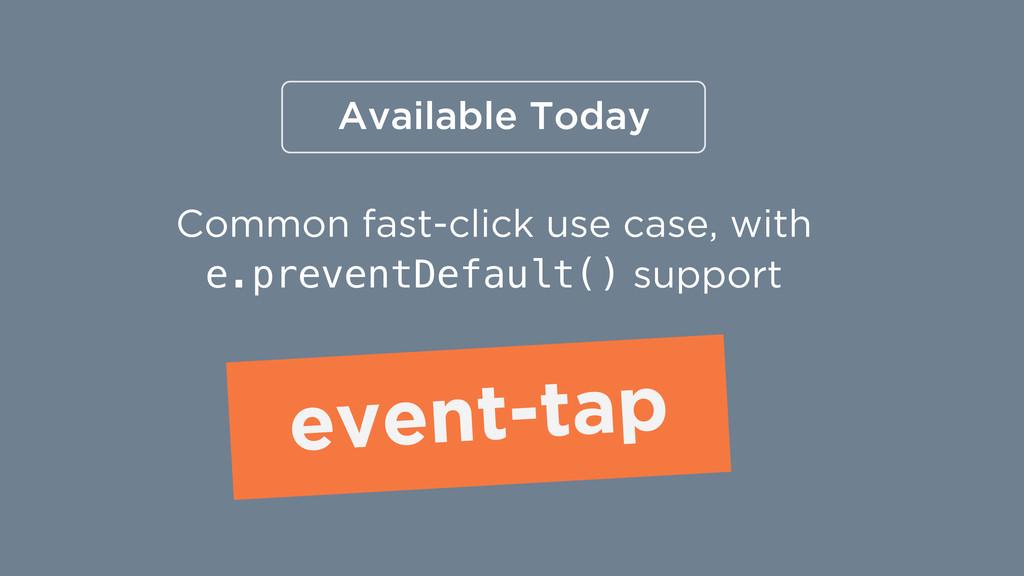 Common fast-click use case, with e.preventDefau...