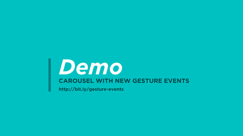 Demo CAROUSEL WITH NEW GESTURE EVENTS http://bi...