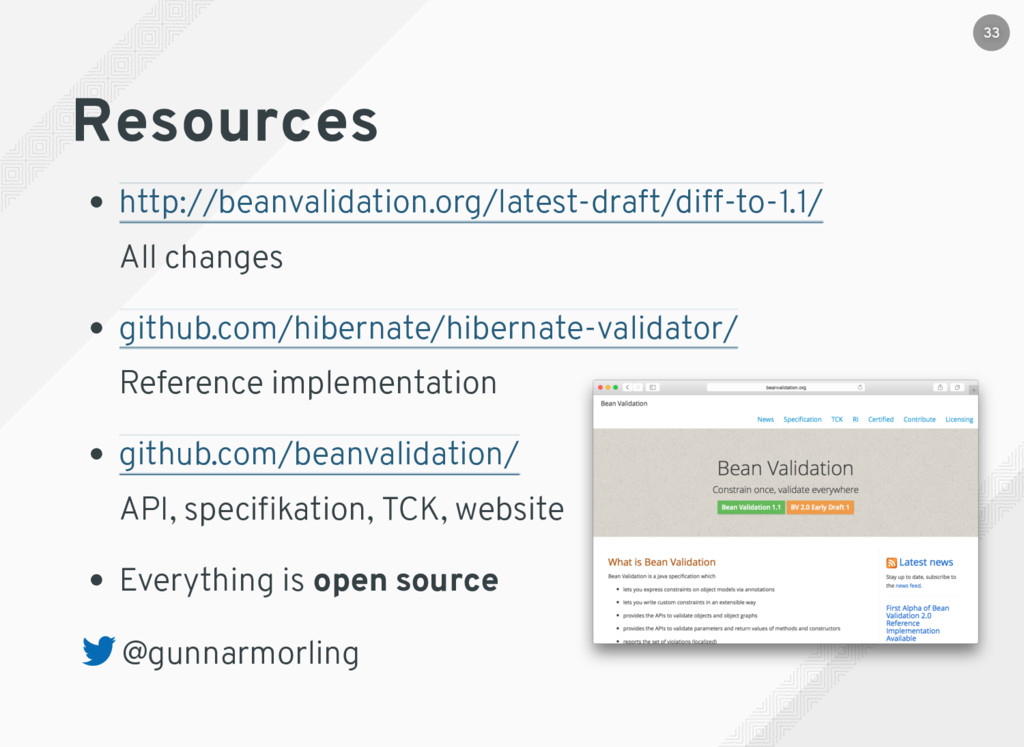 Resources All changes Reference implementation ...