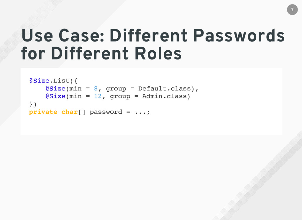 Use Case: Different Passwords for Different Rol...