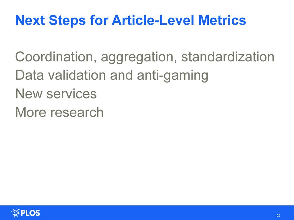 Next Steps for Article-Level Metrics Coordinati...