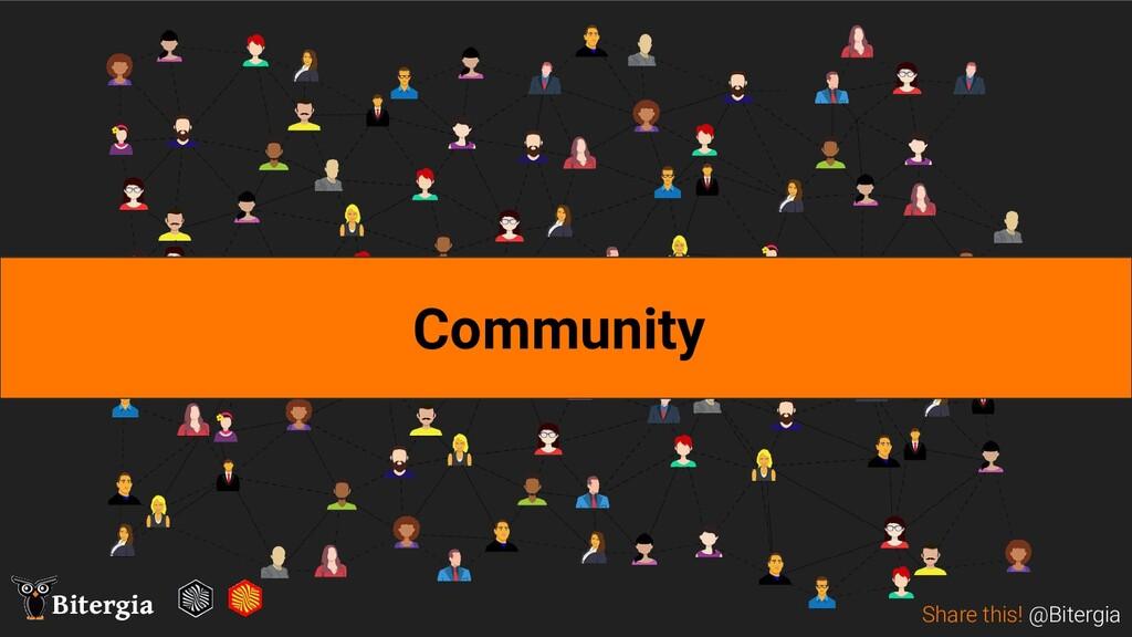 Share this! @Bitergia Bitergia Community