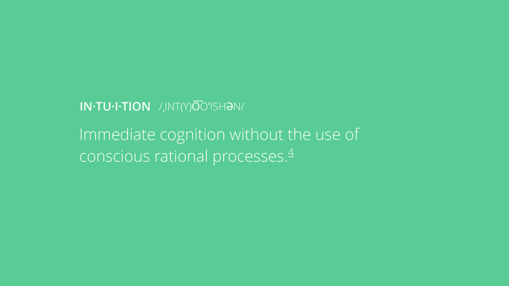Immediate cognition without the use of consciou...