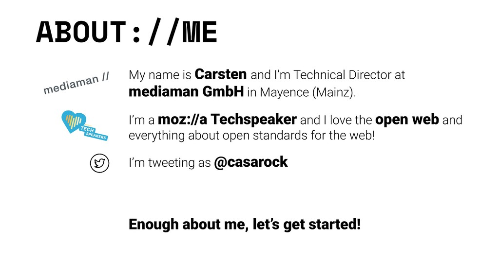 ABOUT://ME My name is Carsten and I'm Technical...