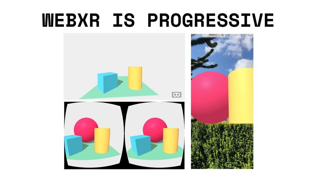 WEBXR IS PROGRESSIVE