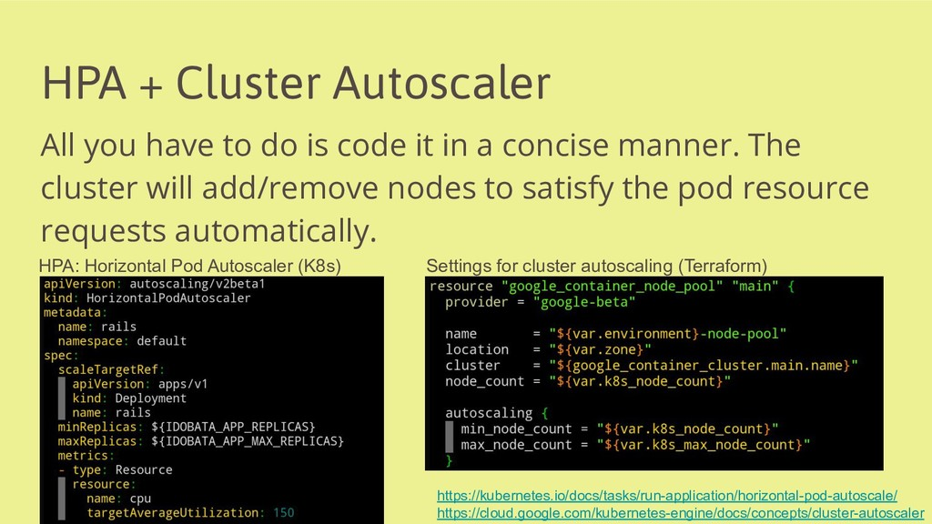 HPA + Cluster Autoscaler All you have to do is ...