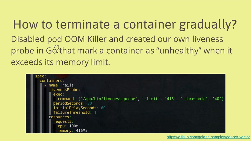 How to terminate a container gradually? Disable...