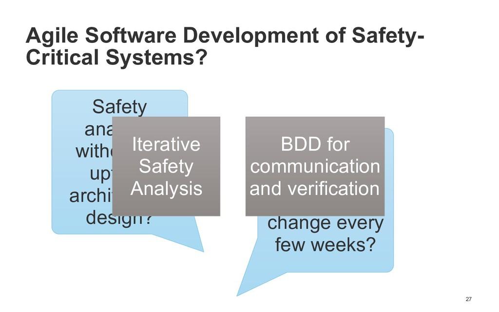 !27 Agile Software Development of Safety- Criti...