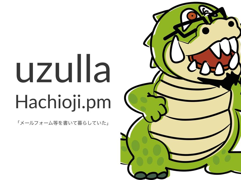 uzulla Hachioji.pm ʮϝʔϧϑΥʔϜΛॻ͍ͯΒ͍ͯͨ͠ʯ