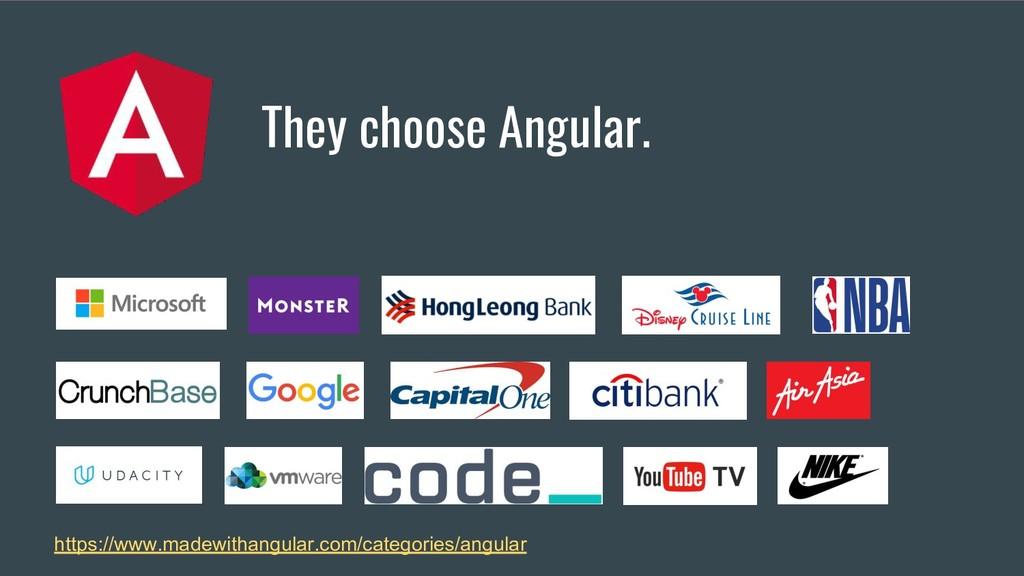 They choose Angular. https://www.madewithangula...
