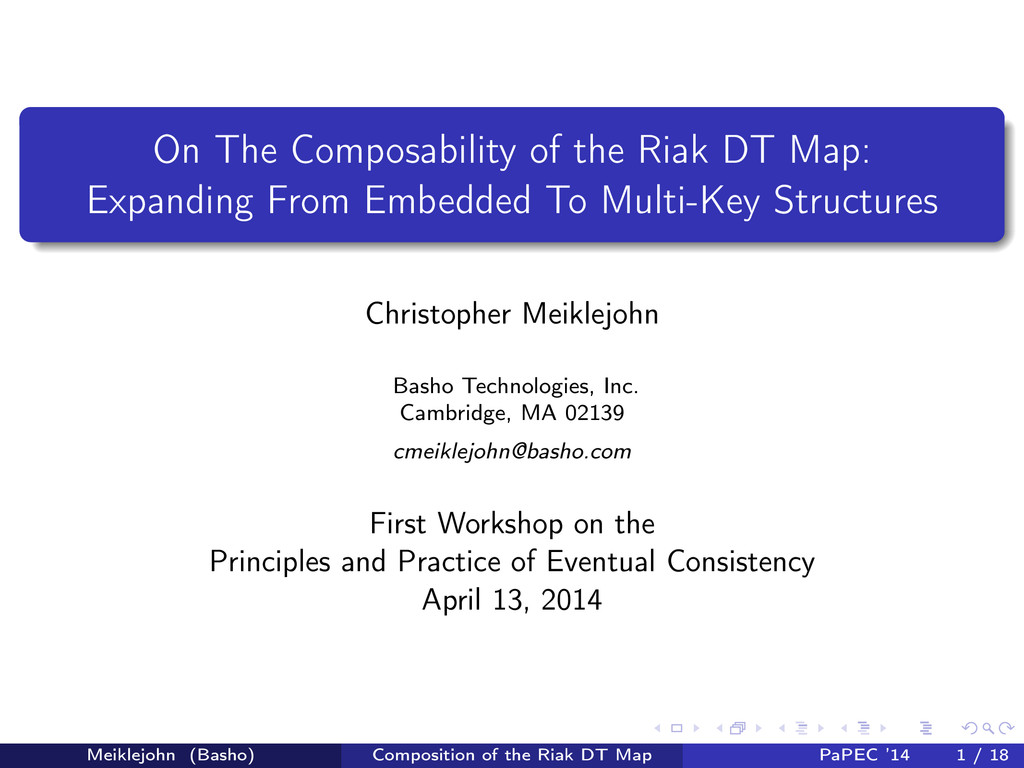 On The Composability of the Riak DT Map: Expand...