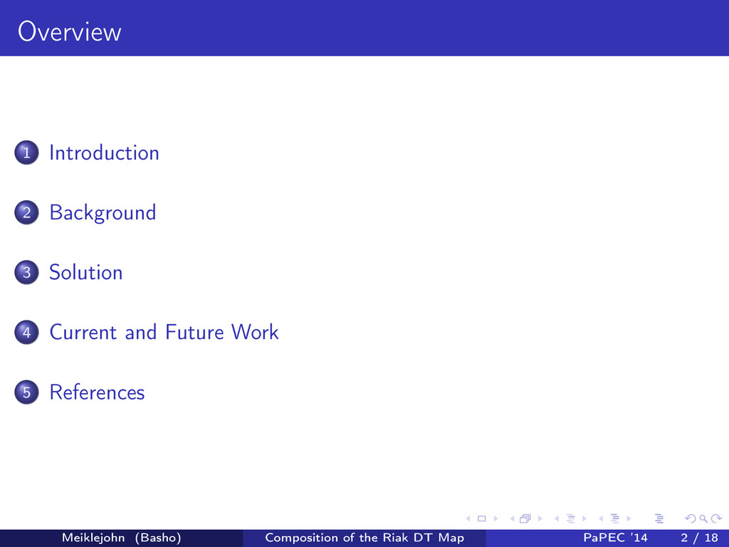 Overview 1 Introduction 2 Background 3 Solution...