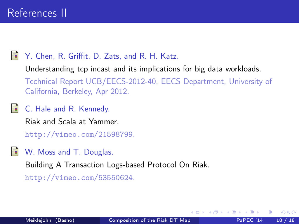 References II Y. Chen, R. Griffit, D. Zats, and R...