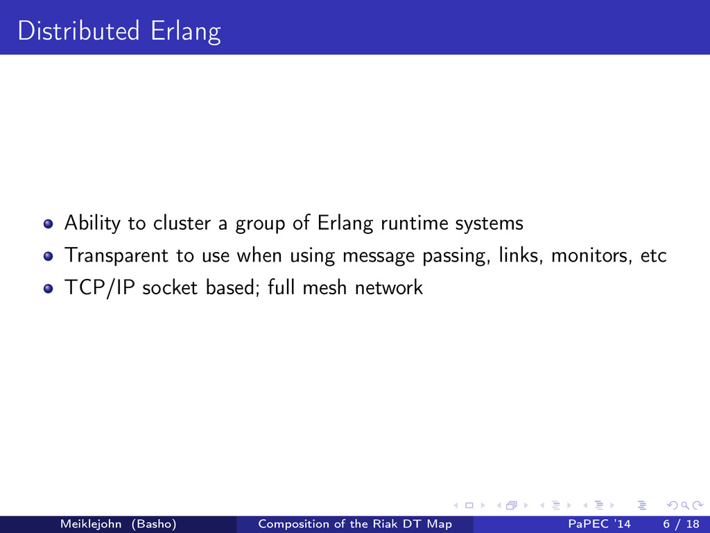 Distributed Erlang Ability to cluster a group o...