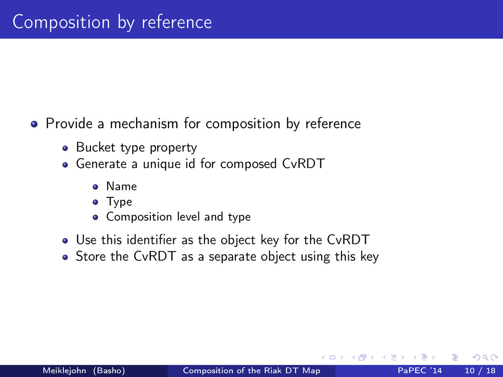 Composition by reference Provide a mechanism fo...