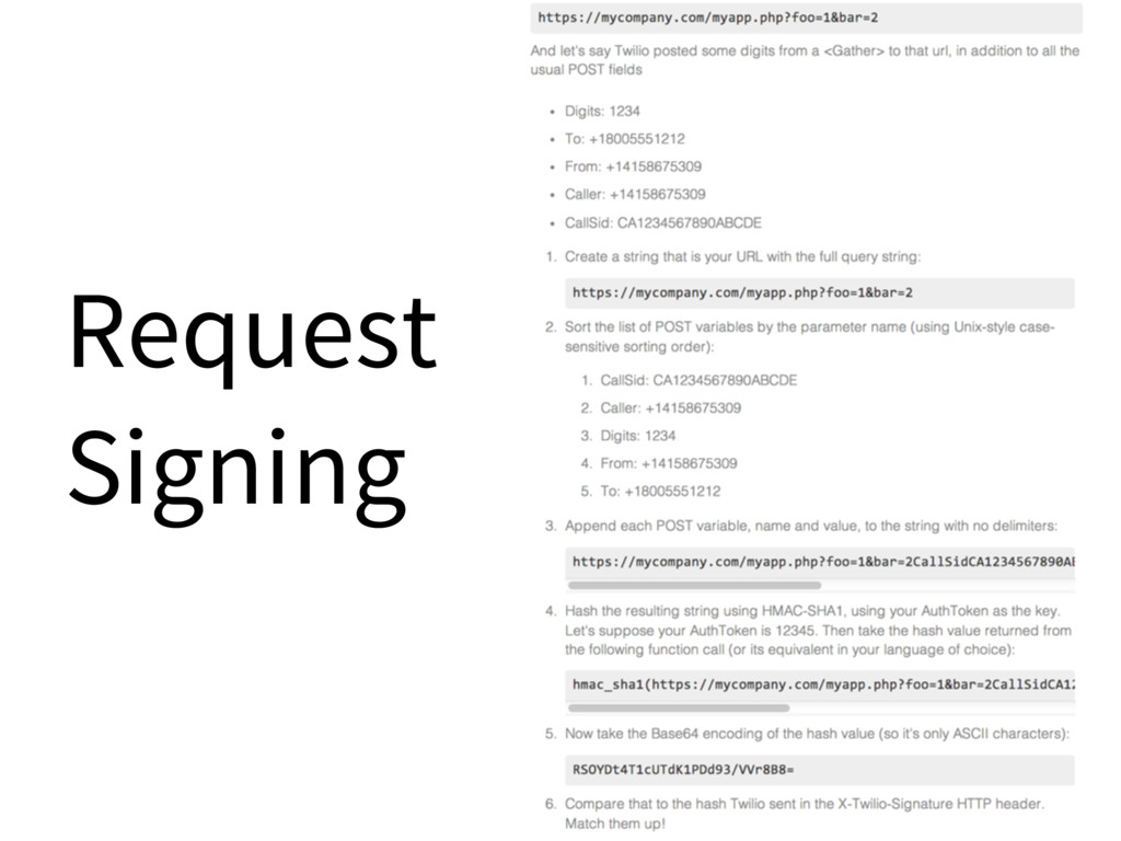 Request Signing