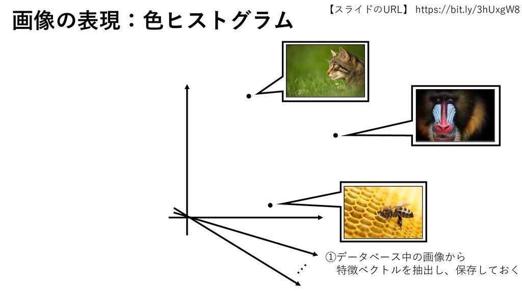 【スライドのURL】 https://bit.ly/3hUxgW8 24 画像の表現:色ヒスト...