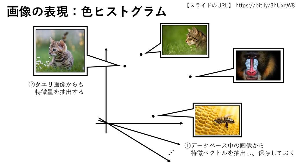 【スライドのURL】 https://bit.ly/3hUxgW8 25 画像の表現:色ヒスト...
