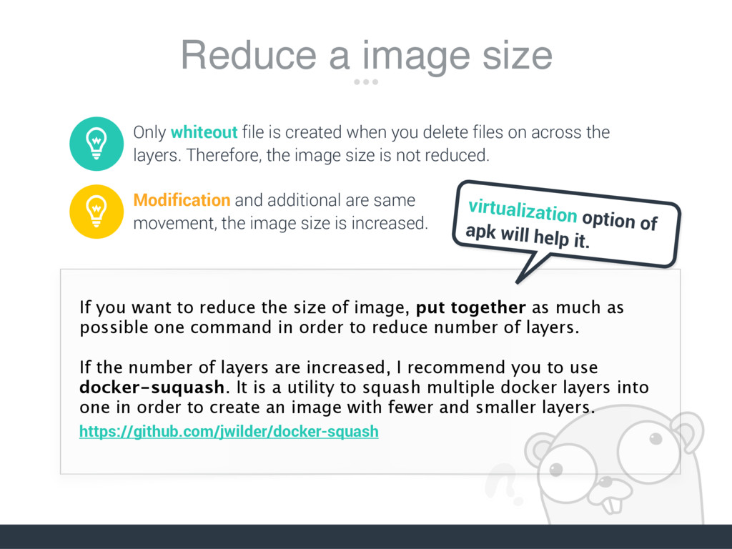 Reduce a image size Only whiteout file is creat...