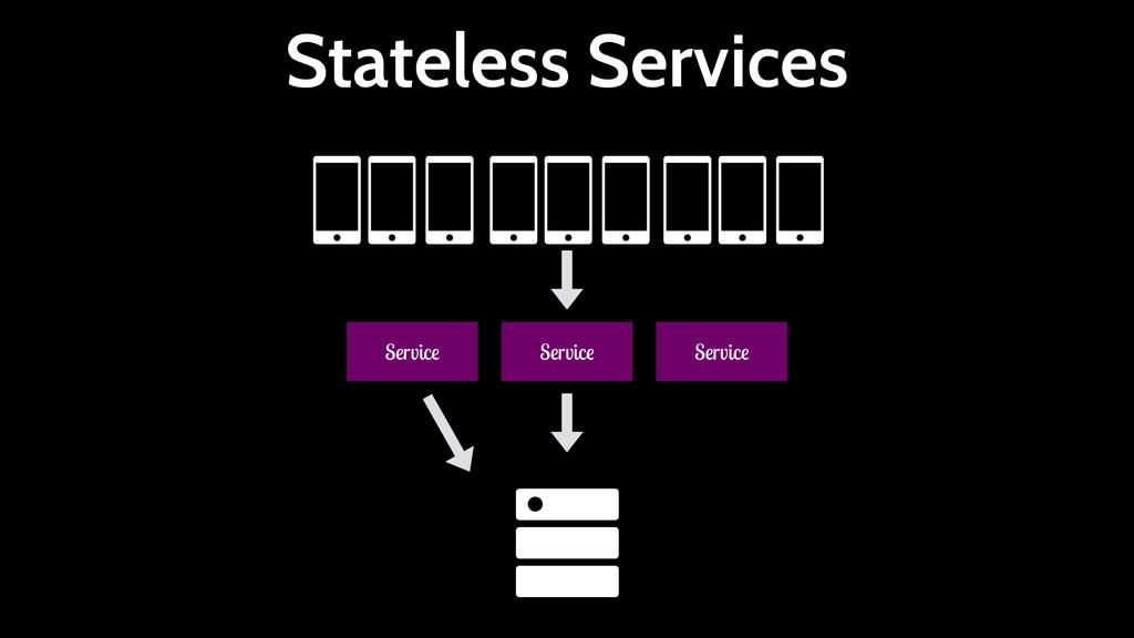 Stateless Services Service Service Service