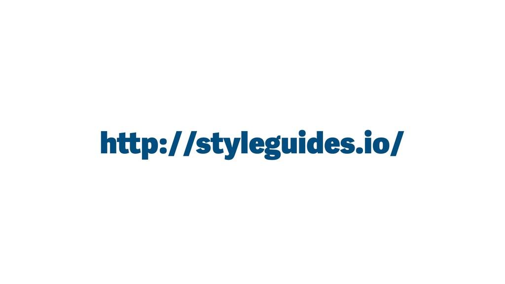 http://styleguides.io/