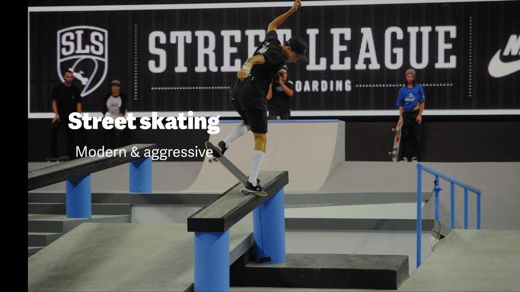 Street skating Modern & aggressive