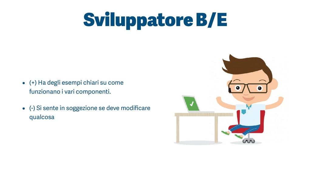 Sviluppatore B/E • (+) Ha degli esempi chiari s...