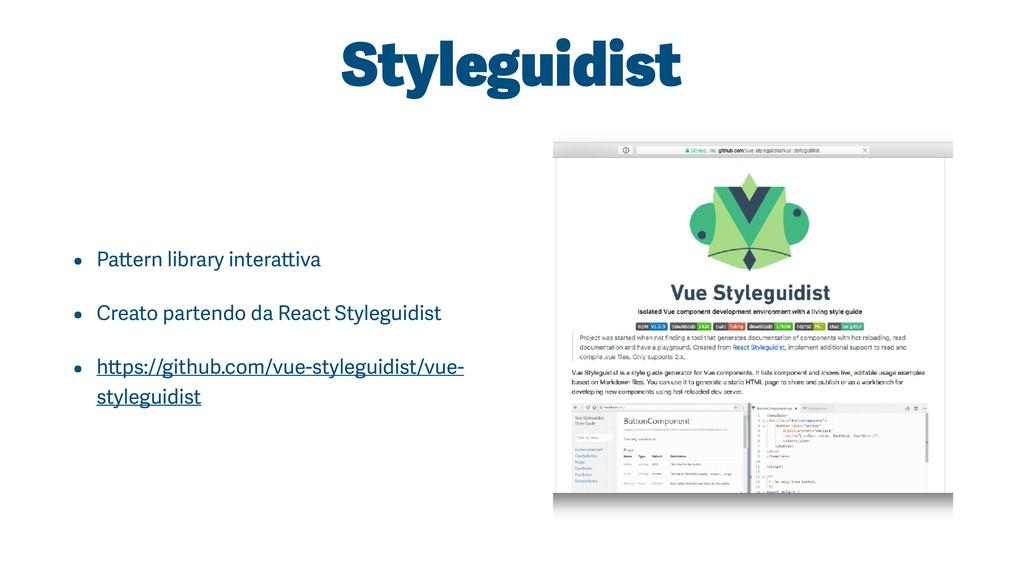 Styleguidist • Pattern library interattiva • Cr...
