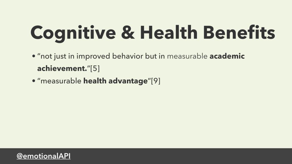 "@emotionalAPI Cognitive & Health Benefits • ""not..."