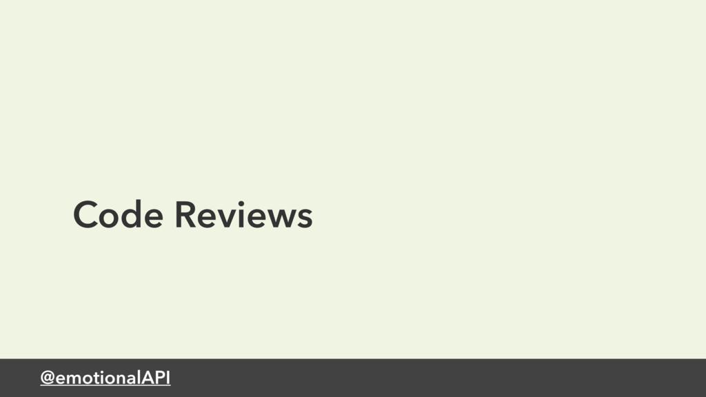 @emotionalAPI Code Reviews