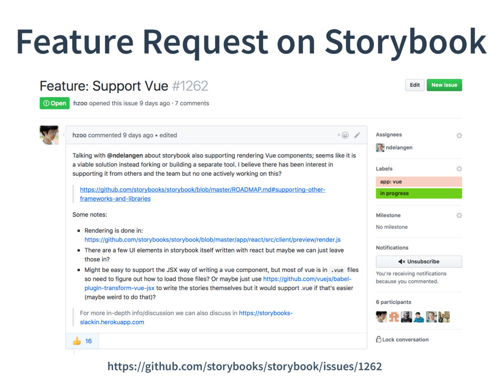 Feature Request on Storybook https://github.com...