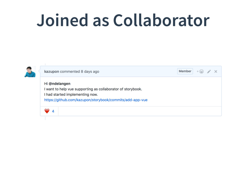 Joined as Collaborator
