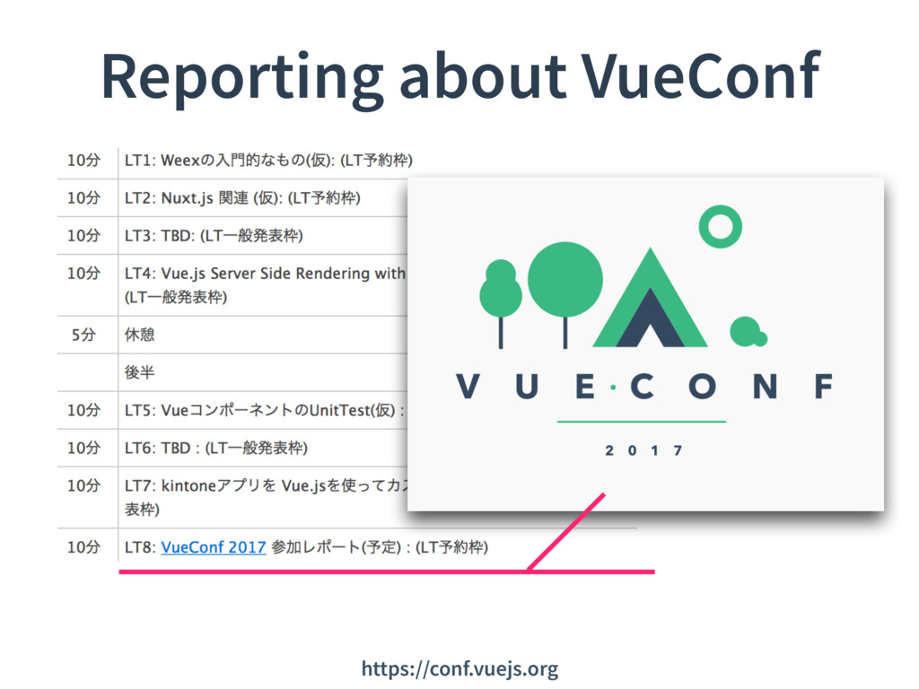 Reporting about VueConf https://conf.vuejs.org
